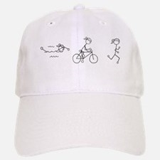 Triathlon Girl Black No Words Baseball Baseball Cap