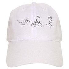 Triathlon Girl Black No Words Baseball Cap