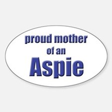 Proud Mother of an Aspie Oval Stickers
