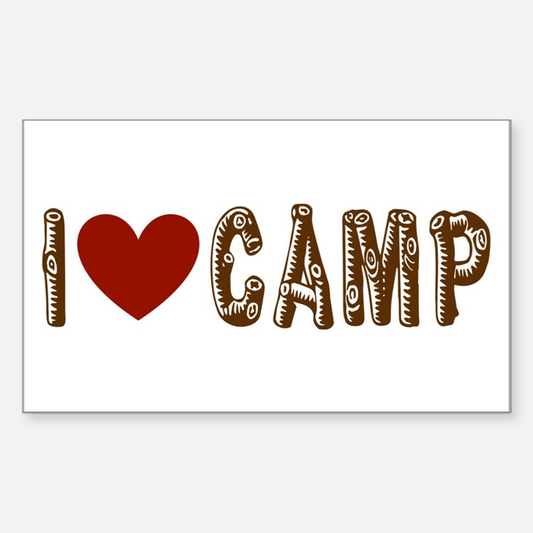 I heart camp Decal