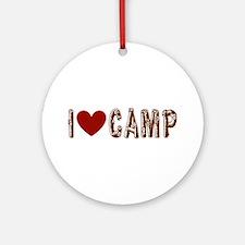 I heart camp Ornament (Round)