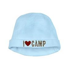 I heart camp baby hat