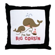 Big Cousin - Whale Throw Pillow