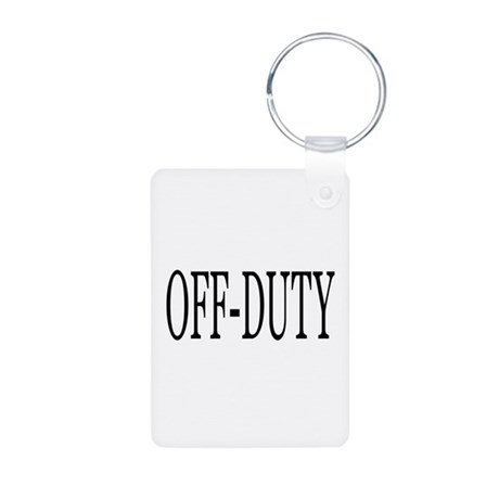 Off-Duty Aluminum Photo Keychain