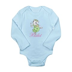 Ballerina Kitty (Green) Long Sleeve Infant Bodysui