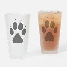 Wolf Paw Print Drinking Glass