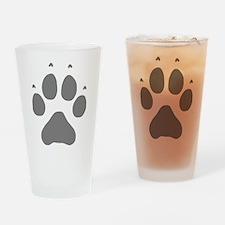 Wolf Paw Print Pint Glass