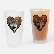Wolf Heart Drinking Glass