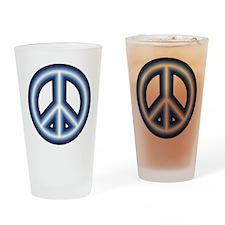 Blue Peace Symbol Pint Glass