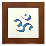 Aum/Ohm Face Meditation/Yoga Framed Tile