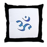 Aum/Ohm Face Meditation/Yoga Throw Pillow