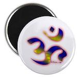 "Aum/Ohm Face Meditation/Yoga 2.25"" Magnet (100 pac"