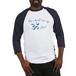 Aum/Ohm Face Meditation/Yoga Baseball Jersey