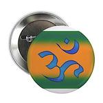 """Aum/Ohm Face Meditation/Yoga 2.25"""" Button (100 pac"""