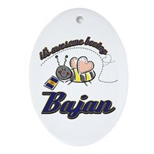 Awesome Being Bajan Ornament (Oval)
