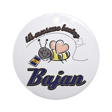 Awesome Being Bajan Ornament (Round)