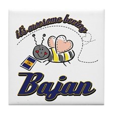 Awesome Being Bajan Tile Coaster