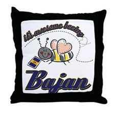 Awesome Being Bajan Throw Pillow