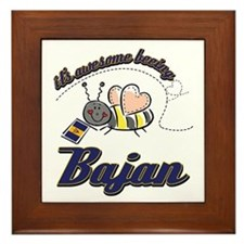 Awesome Being Bajan Framed Tile