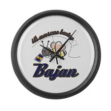 Awesome Being Bajan Large Wall Clock