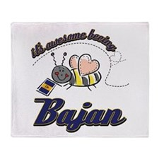 Awesome Being Bajan Throw Blanket