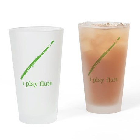 I Play Flute Pint Glass