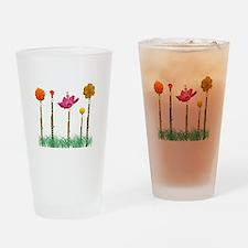 Flute Flowers Pint Glass