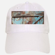 distressed turquoise barn wood Baseball Baseball Cap