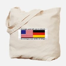 USA - Germany Tote Bag