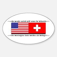 USA - Switzerland Oval Decal