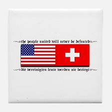 USA - Switzerland Tile Coaster