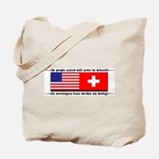 USA - Switzerland Tote Bag