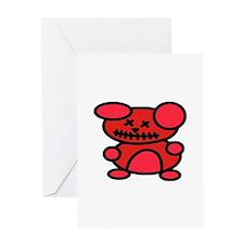 VooDoo Teddy Greeting Card