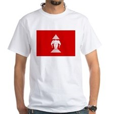 Lao / Laos Erawan Three Headed Elephant Flag Shirt