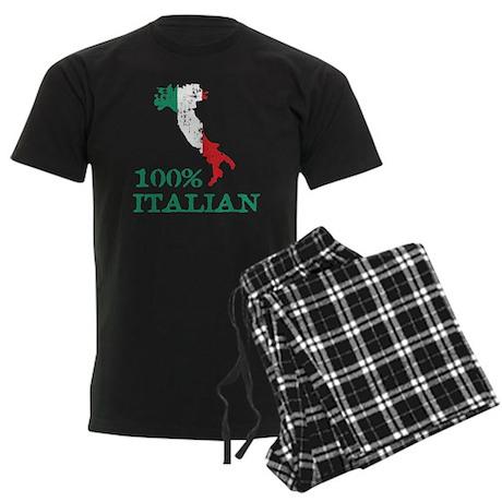 100% Italian Men's Dark Pajamas