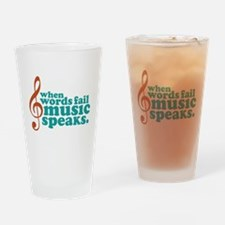 Teal Music Speaks Pint Glass
