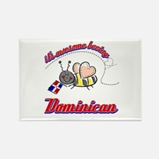 Awesome Being Dominican Republic Rectangle Magnet