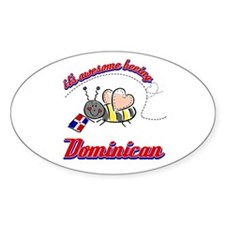 Awesome Being Dominican Republic Decal