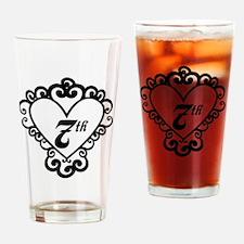 7th Anniversary Love Gift Pint Glass