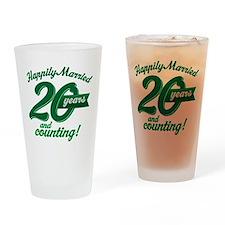 20 Years Anniversary Gift Pint Glass