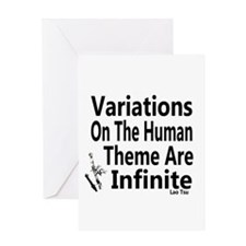 Variations On Humanness Greeting Card