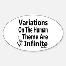 Variations On Humanness Sticker (Oval)