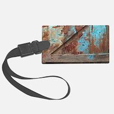 distressed turquoise barn wood Luggage Tag