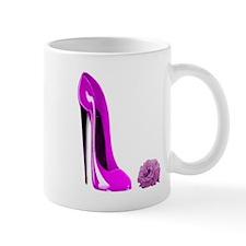 Hot Stiletto Shoe & Rose Mug
