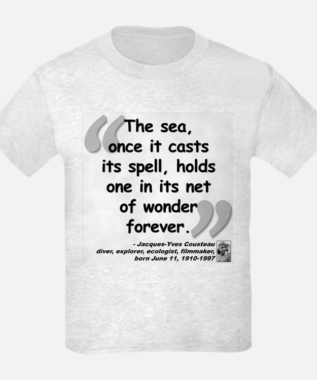 Cousteau Sea Quote T-Shirt