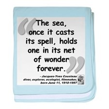 Cousteau Sea Quote baby blanket