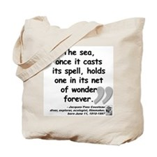 Cousteau Sea Quote Tote Bag