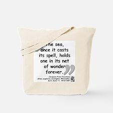 Cousteau Sea Quote Tote Bag