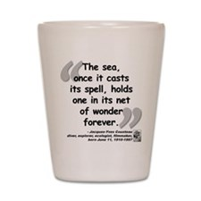 Cousteau Sea Quote Shot Glass