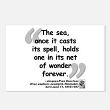 Cousteau Sea Quote Postcards (Package of 8)